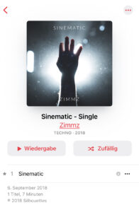 One Track or Album per Week, Number 8: Zimmz - Sinematic.