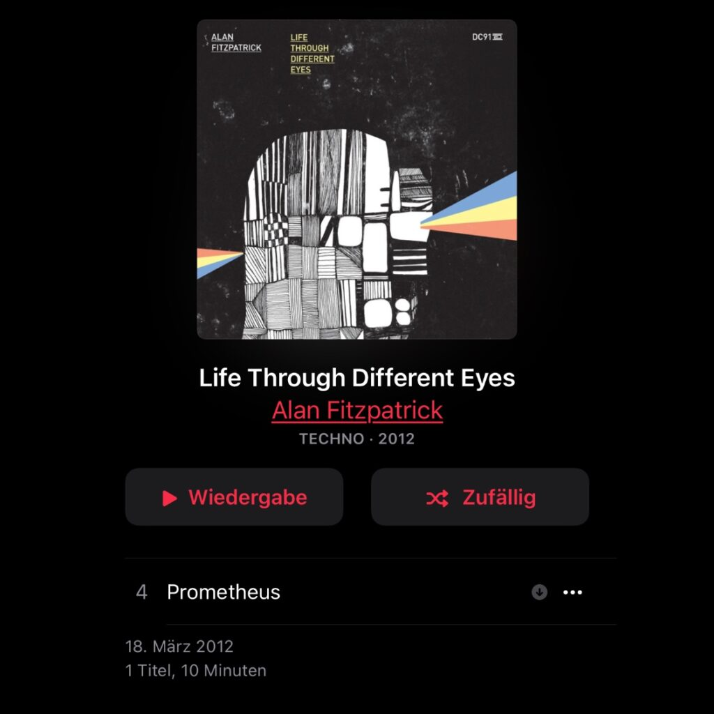 One Track or Album per Week, Number 11: Alan Fitzpatrick - Prometheus